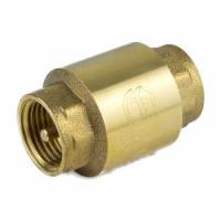Клапан обратный Ду 32 латунь Ру40 ВР пружинный с лат/штоком Aquasfera 3002-04