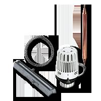 Термостатическая головка К с накладным датчиком, +20....+50С, Heimeier